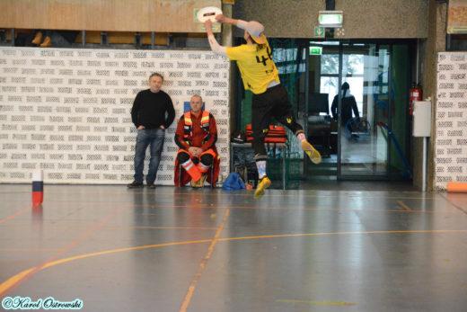 Maciej Parys dobrze prezentował się w meczu barażowym KWR vs Frisbnik